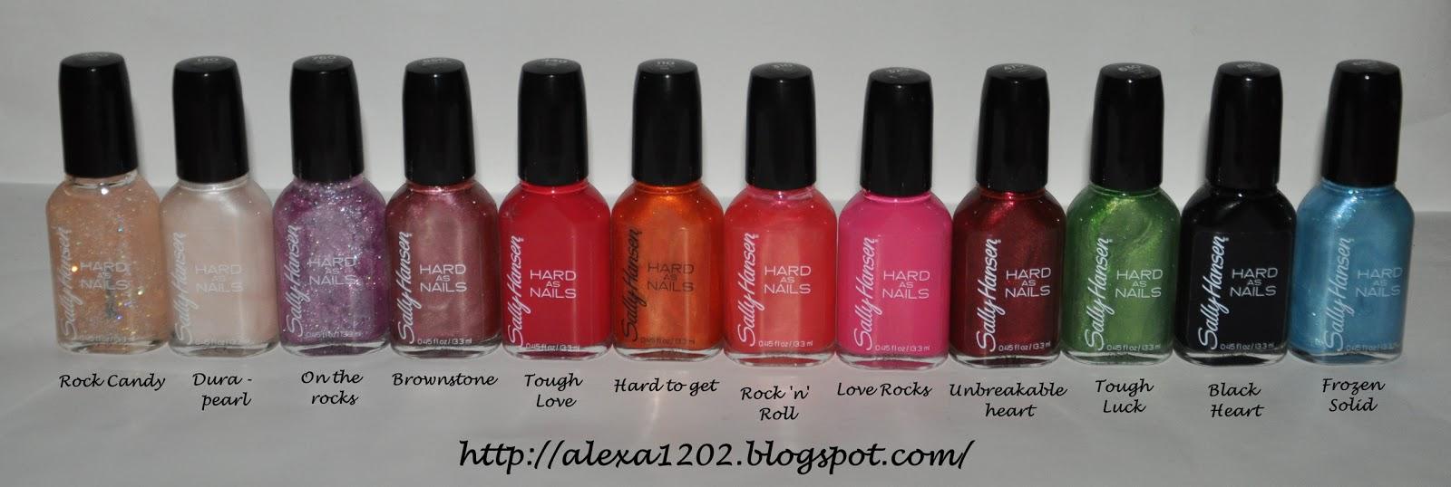 Sally Hansen Nail Polish Colors Chart Hession Hairdressing