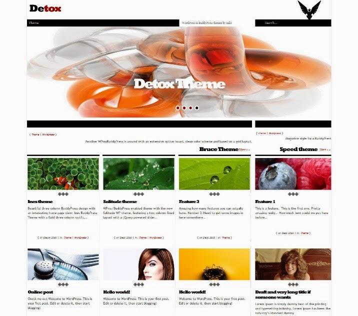 Detox Free BuddyPress Theme