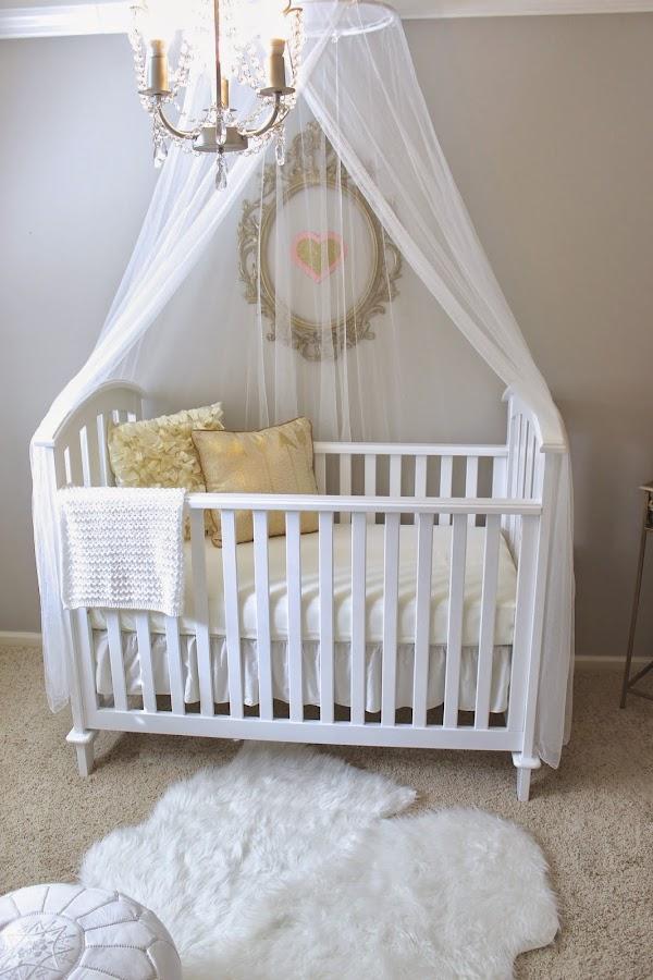 elegant baby nursery