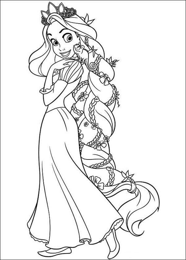 Tangled Coloring Pages Free Gtgt Disney Coloring Pages