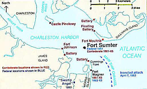 The First Shots Of The Civil War Were Fired On 12 April 1861 From Confederate Batteries On Fort Johnson