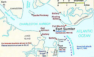 Recreational Geography Civil War Geography Fort Sumter South Carolina