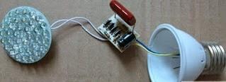 cara merakit lampu led
