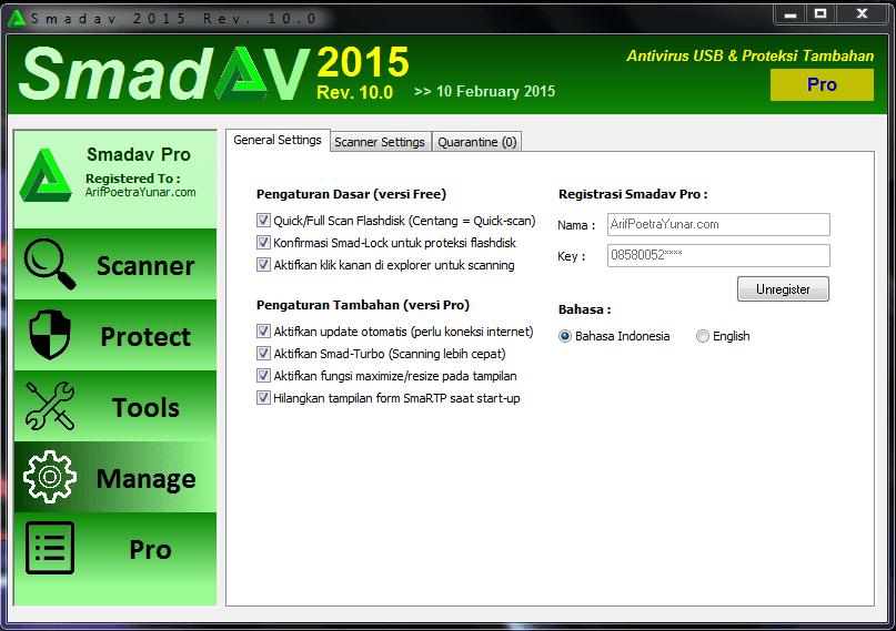SmadAV Pro Rev.10.0 Full Terbaru 2015