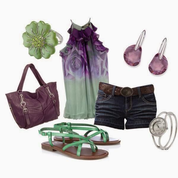 Jeans Shoes Bag Watch Earrings..