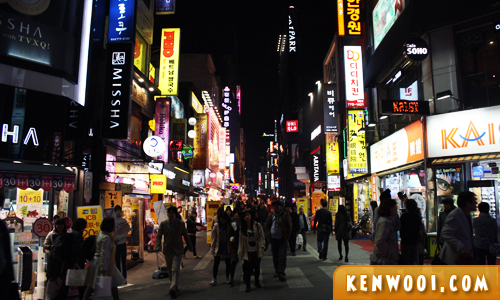 seoul myeongdong night market