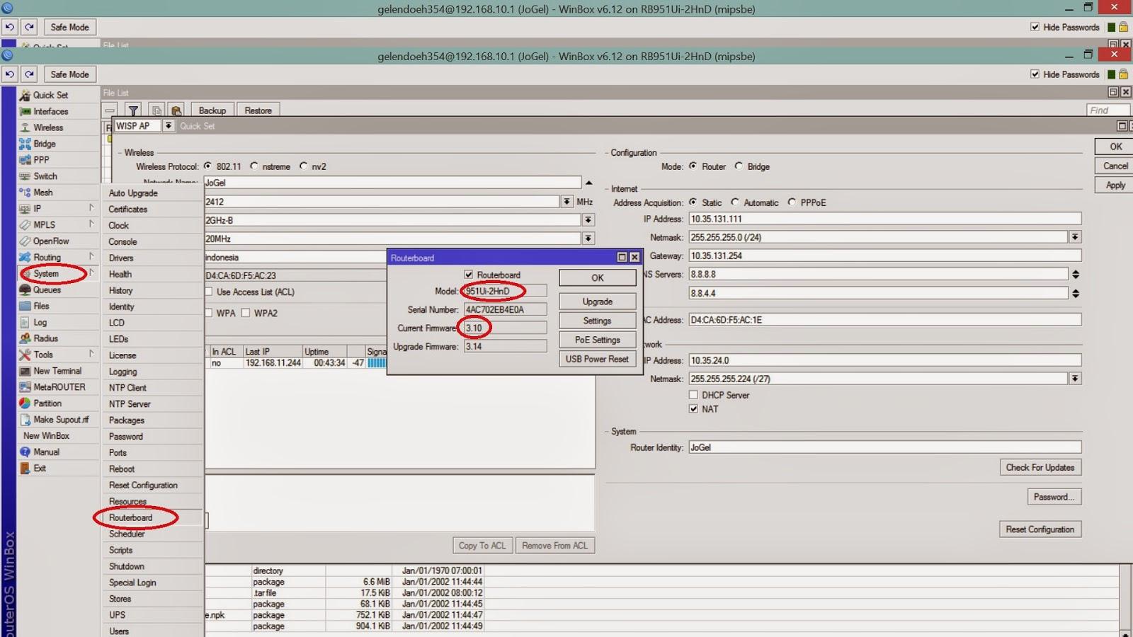 Cara Upgrade Mikrotik RouterBoard OS