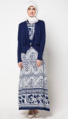 Baju Muslim Gamis Simpel Trendy Untuk Lebaran