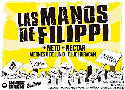 LAS MANOS DE FILIPPI EN POSADAS!! VIERNES 8 DE JUNIO 2012!!!