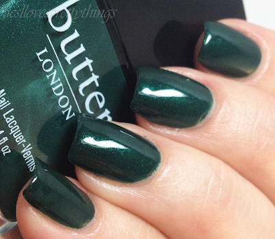 Butter London British Racing Green swatch and review