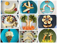 рисуем едой для детей из бананов