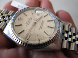 HOLD ROLEX OYSTER PERPETUAL DATEJUST LINEN TEXTURE DIAL - ROLEX 16014