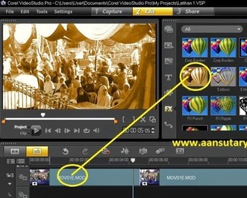 Cara Menggunakan  Fitur Filter Pada Corel Video Studio Pro X6