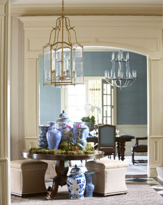 Alexa Hampton Used A Pair Of Over Scaled Lanterns In This Fabulous Kitchen  In The Hamptons