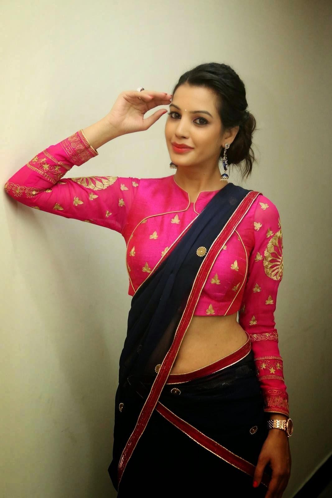 Diksha panth sizzling in saree-HQ-Photo-20