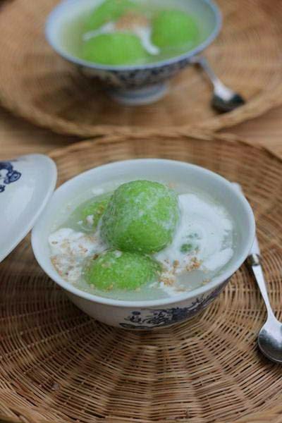 Vietnamese Food - Chè Đậu Xanh Bột Báng