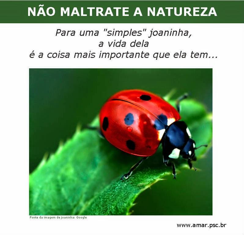 NÃO MALTRATE A NATUREZA...