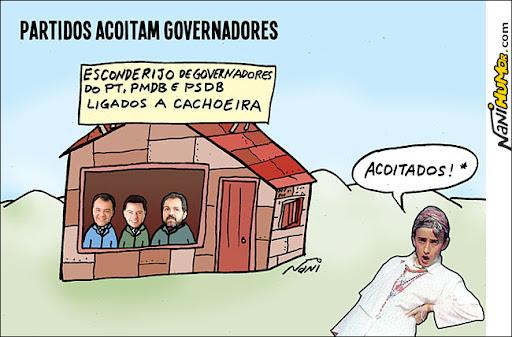 Partidos acoitam governadores Sérgio Cabral, Marcondes Perillo e Agnelo Queiroz