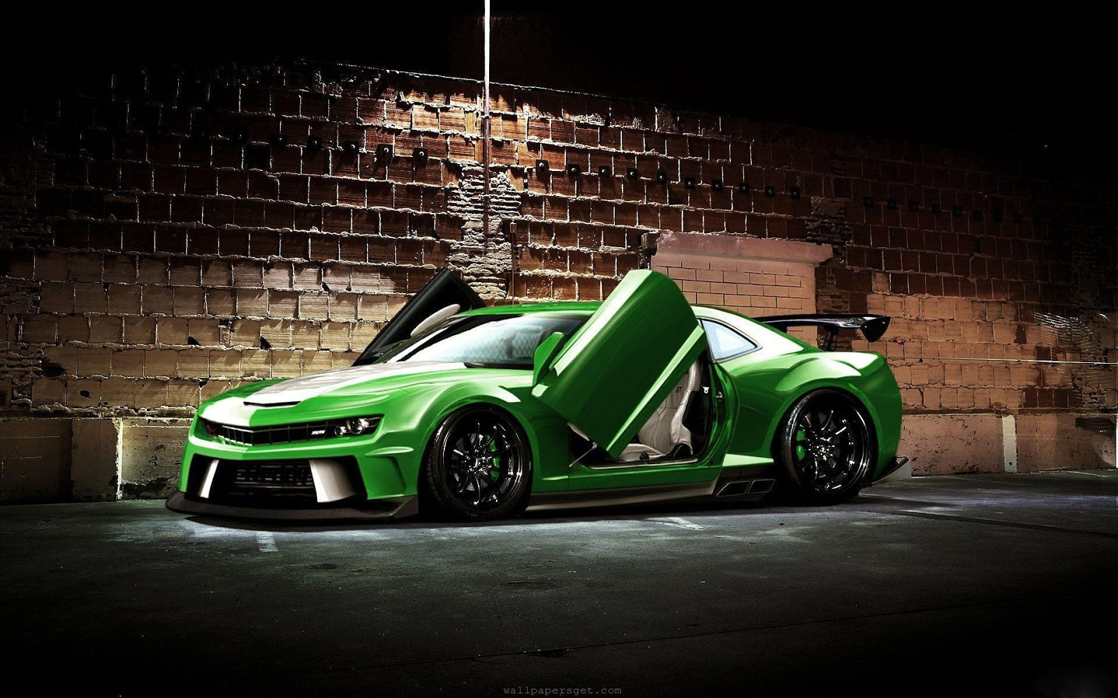 green sports car wallpaper -#main