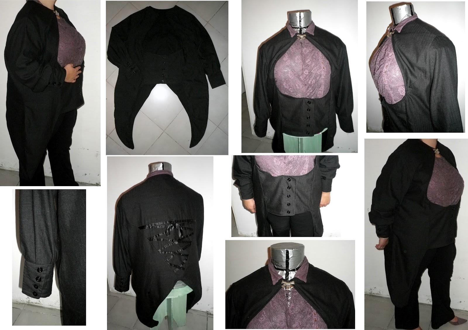 patron couture veste avec une queue pie