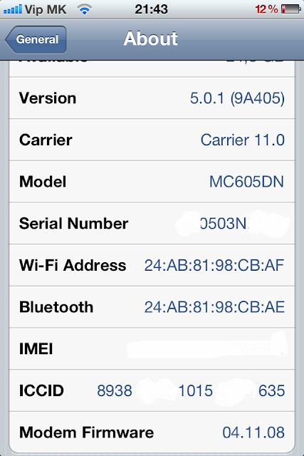 Unlocked iPhone 4 baseband 4.11.08