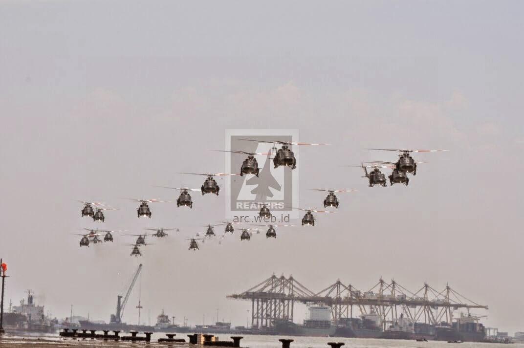 256 Pesawat Terbang dan Drone Meriahkan HUT TNI ke 69