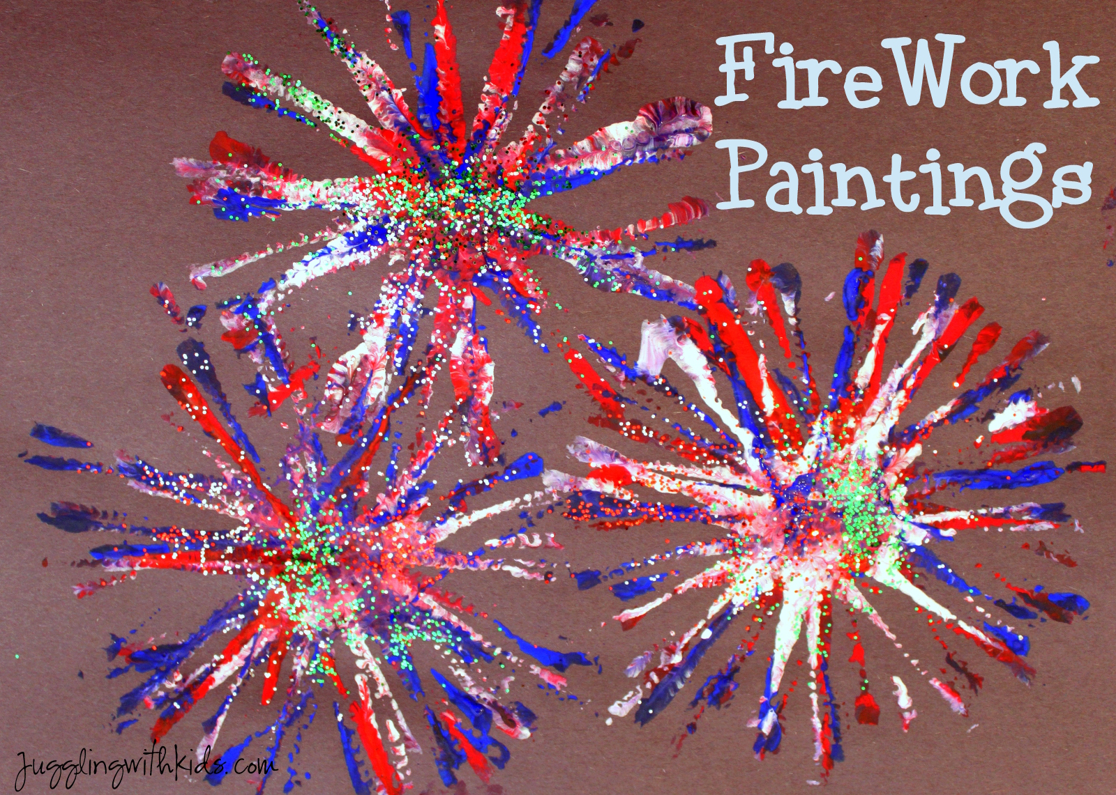 Firework Painting Juggling With Kids
