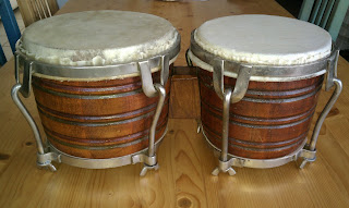 Candid Requena bongo restored by Tony Stearn - on the rumba blog tony's conga adventures