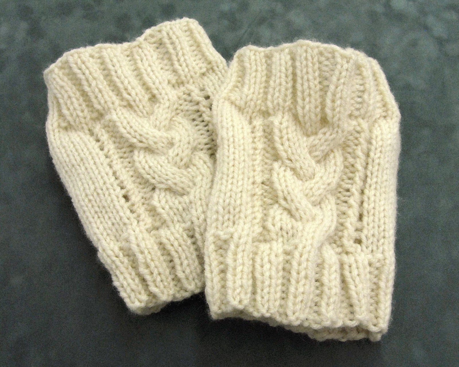Free Knitting Pattern For Boot Cuffs : Ben Franklin Crafts and Frame Shop, Monroe, WA: How to: Cable Knit Boot Cuffs