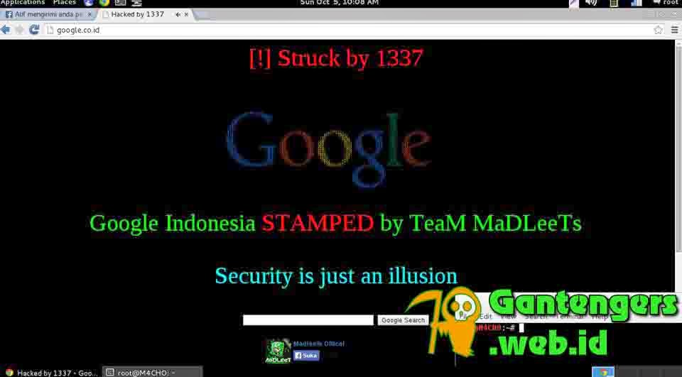 Google.co.id Diretas Oleh Maddlets Team