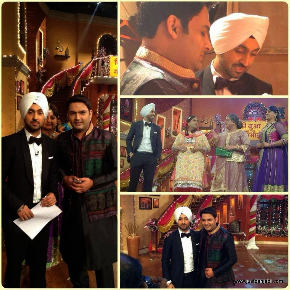 Diljit Dosajh and Kapil Sharma at the set of Comedy Nights with Kapil at Mumbai