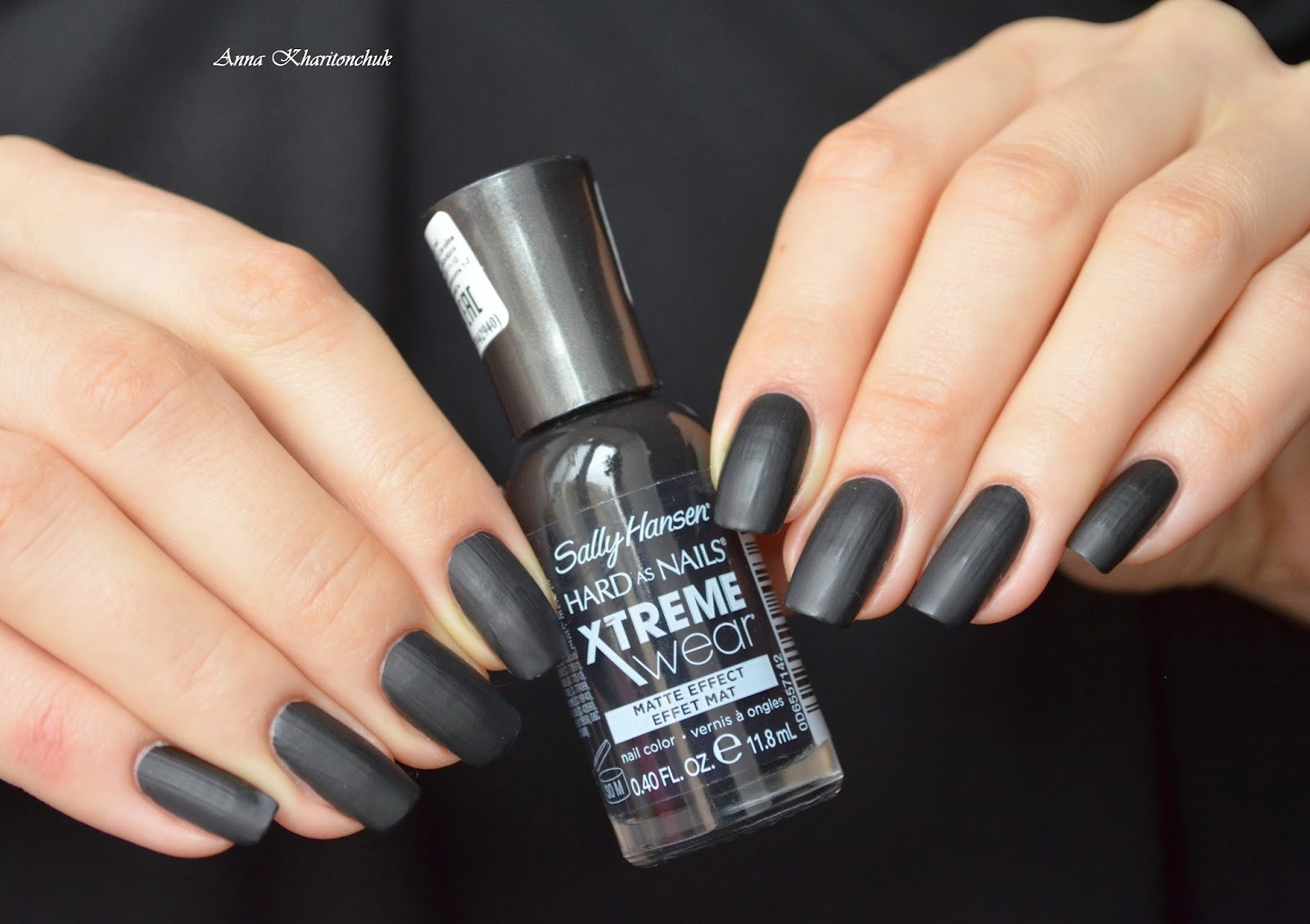 Sally Hansen Hard as Nails Xtreme Wear Matte Effect # 940 Chain Mail и Sally Hansen Hard as Nails Xtreme Wear Glitter Effect # 910 Rouge Red