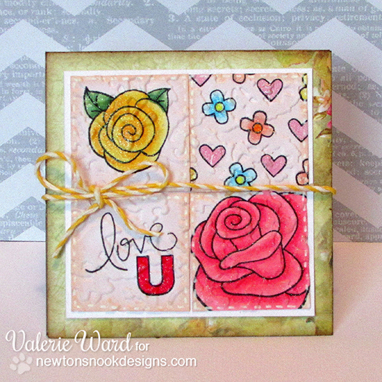 Rose card by Valerie Ward for Newton's Nook Designs | Love Grows