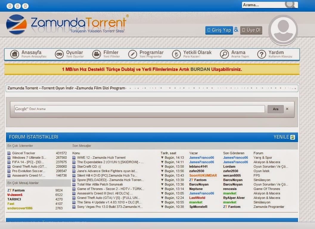 MYBB Zamunda Torrent Teması