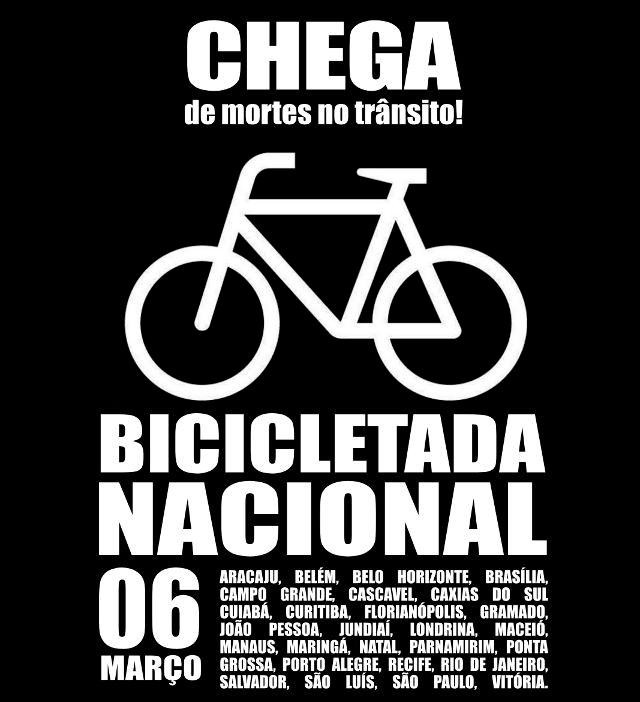 Hojé dia de Bicicletada Nacional
