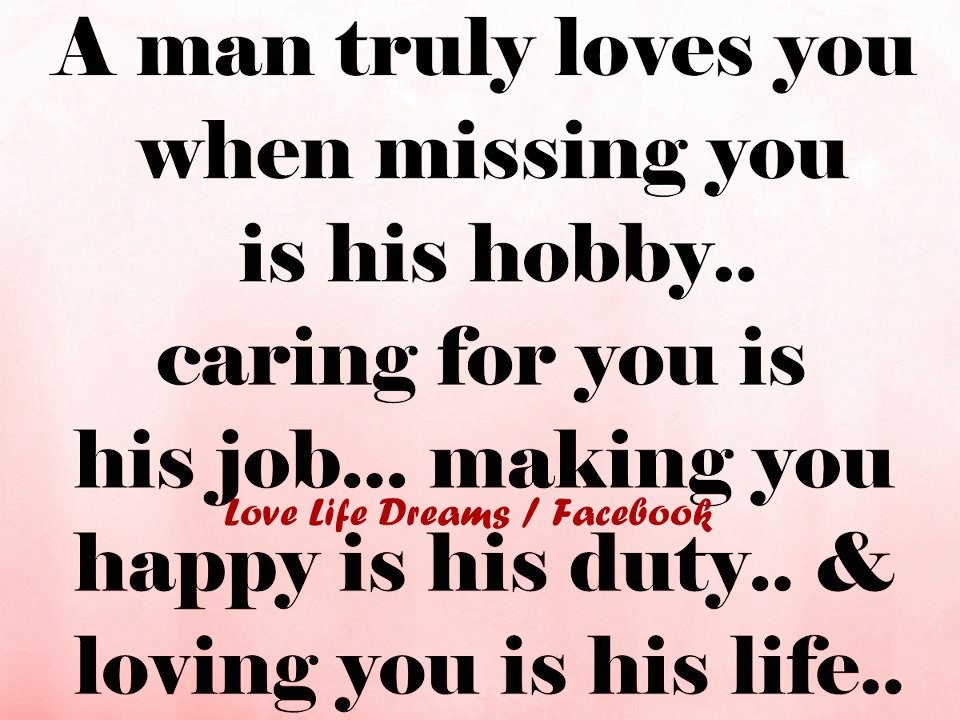 If he truly loves you