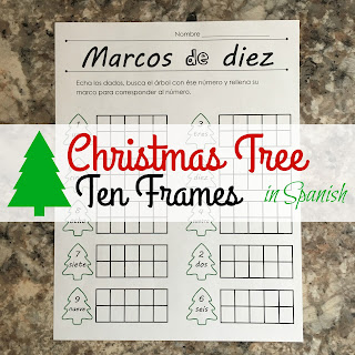 Glasses Frame In Spanish : For the Love of Spanish: Christmas Tree Ten Frames in Spanish