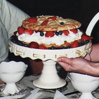 Cake Stand with Berry Shortcake