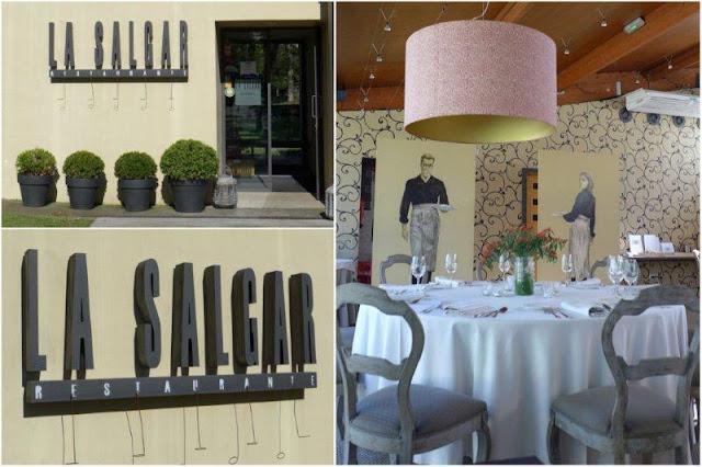 Entrada y comedor del Restaurante La Salgar en Gijon