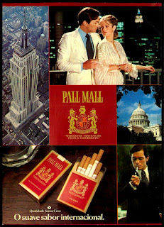 cigarros Pall Mall; Souza Cruz anos 70; propaganda anos 70; história decada de 70; reclame anos 70; propaganda cigarros anos 70; Brazil in the 70s; Oswaldo Hernandez;