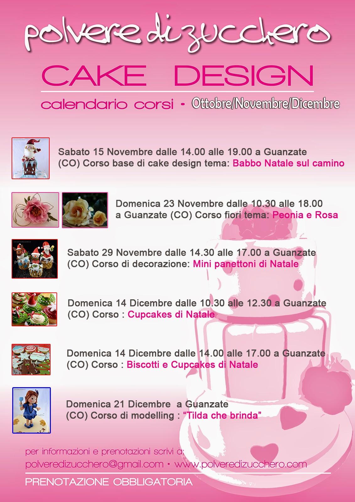 corsi di cake design a guanzate (co): torte, biscotti, fiori in pasta di zucchero e panettoni decorati