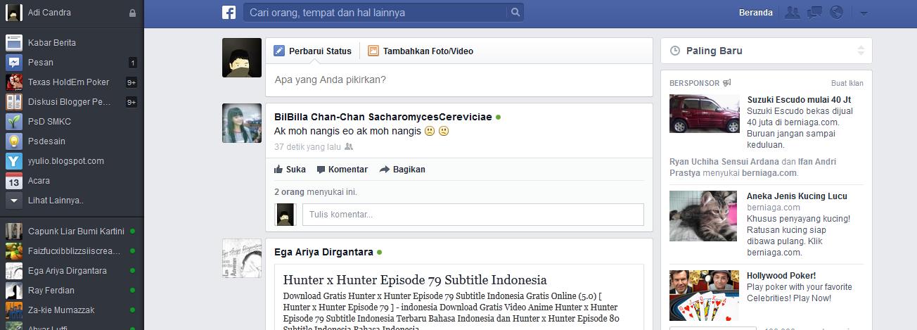 Cara Merubah Tampilan Facebook Terbaru 2013 | Yulio Adi ...