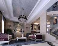 ruang tamu bernuansa ungu