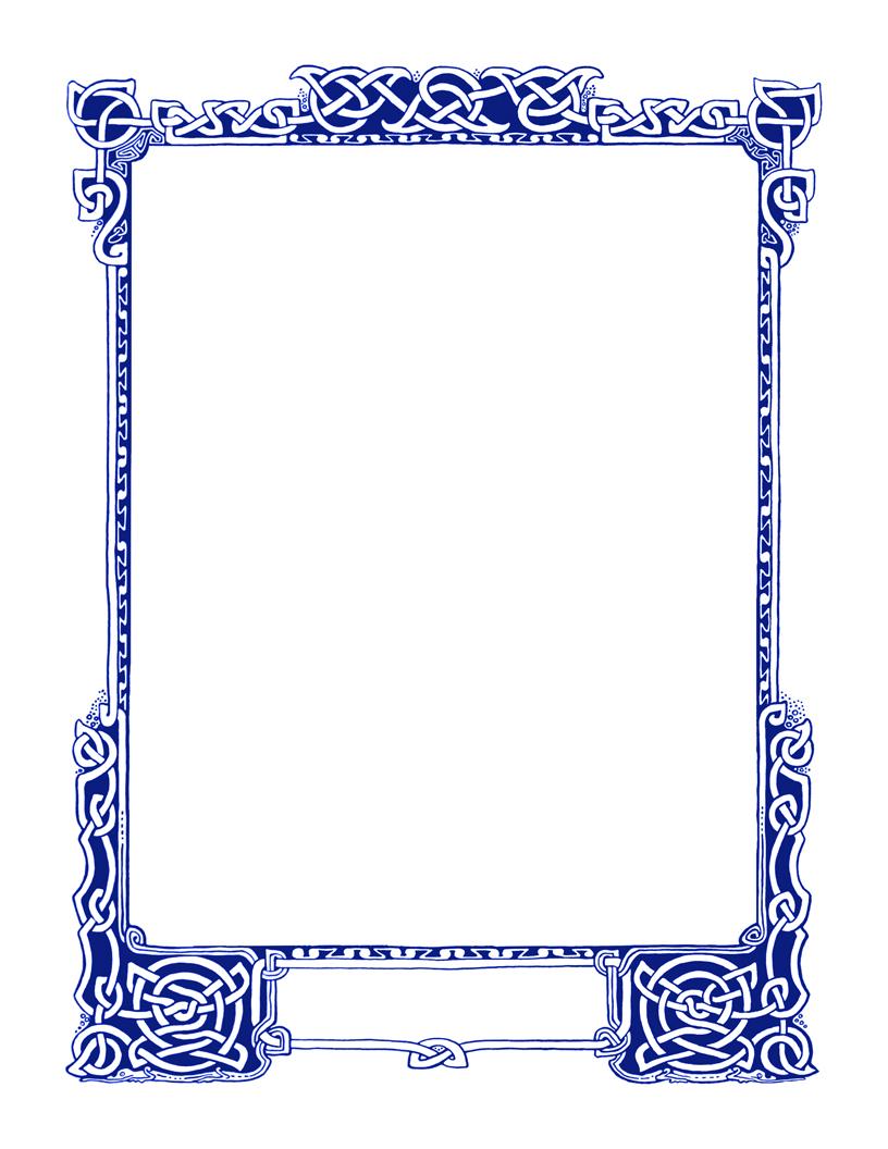 Plush Page Frames Celtic Knotwork Beauties