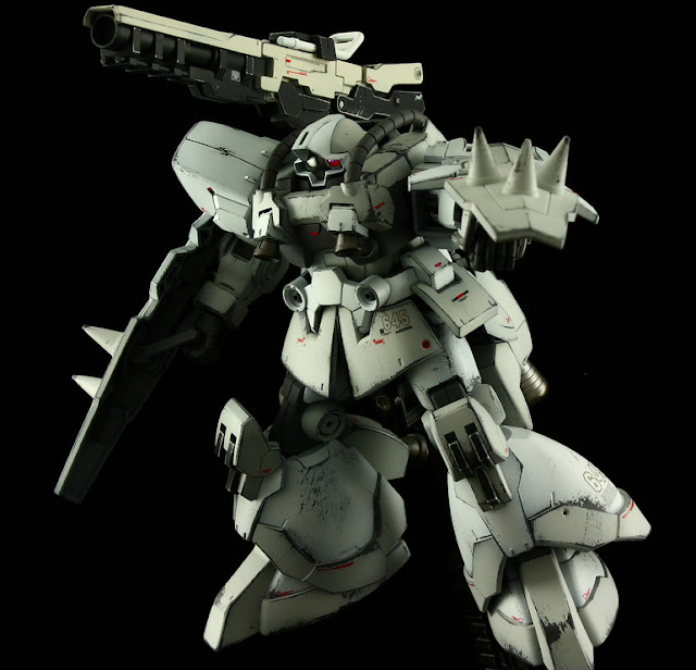 high grade build fighters dom r35 white ogre
