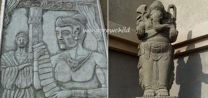 relief sejarah kediri di monumen simpang lima gumul