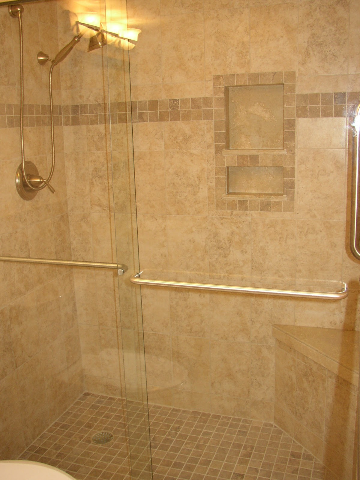 Design aholic i need a little blog love unplanned master bath reno Tile a shower