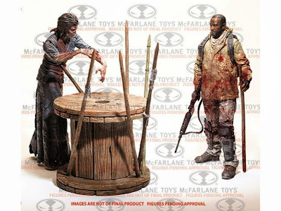 The Walking Dead TV Series Morgan and Impaled Walker Deluxe Action Figure Box Set  (Series 8)