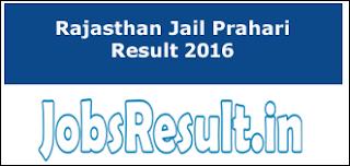 Rajasthan Jail Prahari Result 2016
