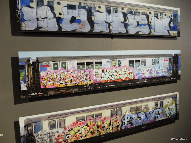 tags trains tryptique, Expo Hip-Hop Institut du monde Arabe Akhenaton Paris